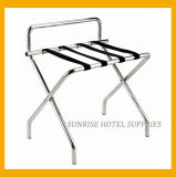 Easy Folding Sliver Chrome Luggage Rack for Hotel