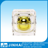 (T) Cosmetic Bottle Cream Jar Square Acrylic Gold Jar