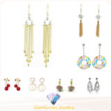 Wholesale Jewelry Fashion Fringed for Woman White CZ 18k White Gold Filled Trendy Dangle & Chandelier Earrings Gift E6646