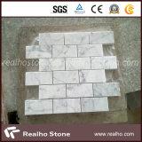Brick Pattern Cararra White Marble Mosaic Tiles for Bathroom Wall