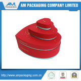 Rigid Heart Shape Red Packaging Boxes with Ribbon