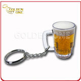 Factory Supply Beer Shape Soft PVC Key Chain
