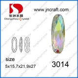 Long Oval Crystal Ab Fashion Bead Stone (DZ-3014)
