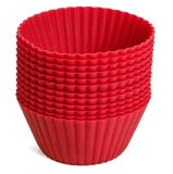 Silicone Baking Cup Liners 12 Reuseable Nonstick Baking Cups Mold