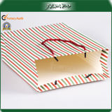 Custom Fashion Newly Strip Pattern Gift Paper Bags
