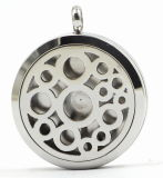 Round Cilcles 316L Stainless Steel Perfume Locket Pendant