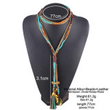 Multi Layer Long Maxi Colar Facet Beads Necklace for Women