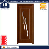 PVC Veneer MDF Wood Bathroom Laminated Wooden Glass Door