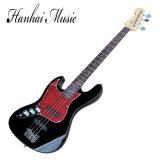 Hanhai Music / Left Handed Black St Style Electric Bass Guitar
