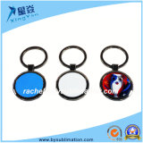 Round Metal Keychain Blank Sublimation Keyring