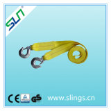2017 100% Polyester Winch Straps with Chain Hook