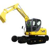 8.0t High Qualty Wheel-Crawler Hydraulic Grab Excavator