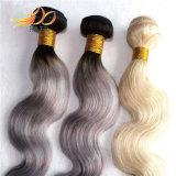 100% Burmese Remy Hair Two Tone Light Color Hair Weaving