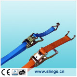 Logistic Straps with E Tracking Fitting and Aluminium Handle Ratchet
