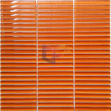 Bright Orange Strip Glass Mosaic Tile (PT106)