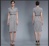 Wholesale Stripe Fashion Ladies Short Sleeve Casual Clothing
