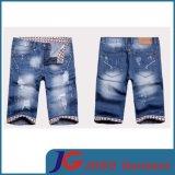 Knee Ripped Fashion Men′s Short Jeans Pant Apparel (JC3281)