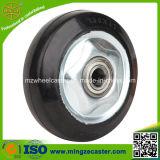 "3""/4""/5""/6""/8"" Black Elastic Rubber Wheel with Ball Bearing"