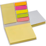 Sticky Note Set 100 Note Sheets 25 Each Coloured Markers.
