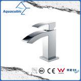 Chromed Solid Brass Body Single Handle Bathroom Basin Tap (AF6018-6A)