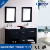 American Floor Standing Wood Double Basin Bathroom Sink Vanity