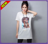 Fashion Sexy Cotton Printed T-Shirt for Women (W278)