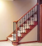 Wooden Handrail Wrought Iron Passage Railings