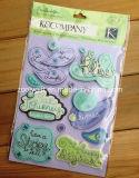 Handmade Paper Die-Cut Craft Scrapbooking Embellishments Glitter Adhesive Dimensional Stickers