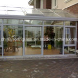 Clear Tempered Glass Door for Green House