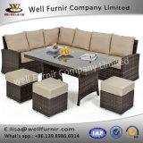 Well Furnir T-001 Rattan Dining Sofa Waterproof