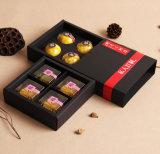 Wholesale 4 Pack of Black Card Mooncake Box, Drawer Type Mooncake Box, Gift Box Supplier