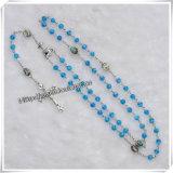 Mini Bule Glass Bead Rosary / Rosary Beads (IO-cr219)