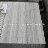 Polished White Serperggiante / White Wooden Marble Floor Tile
