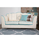 Mediterranean Living Room Fabric Sofa