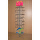 Spinning Metal Floor Standing Napkin Display Rack for Retail Shops (PHY222)