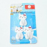 3PCS/Set Lovely Cat Shaped Decorative Wall Hooks