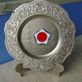Customize 21cm Japan Karate Logo Katana Metal Souvenir Plate with Gift Box