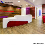 Contemporary Design White Round Reception Counter