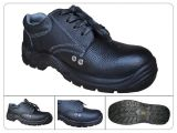 Low Upper Black Printed Leather Acid Resistant Safety Shoes En345