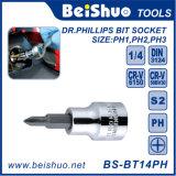 Full Size Drive Phillips Bit Socket, Cr-V or S2 Material