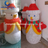 Smile Face Snowman Lighting for Christmas Ornament