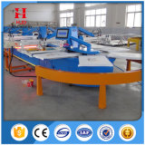 Oval Automatic Textile Screen Printing Machine for T-Shirts