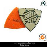Triangle Polishing Pads, 1500 Grit Flexible Dry Pad