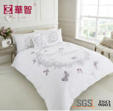 White High Thread Cotton Embroidery Bedding Sets