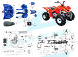 150cc Popular ATV Parts (The whole parts provided)