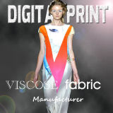 Print of Viscose Fabric for Dress Making (m105)