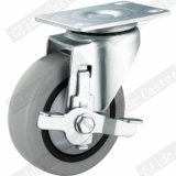 Medium Duty Single Bearing Tpp Caster with Side Brake (Gray) (G3117)