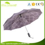 "Three Section Automatic Open Manual Close 21"" Umbrella"