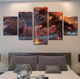 5 Pieces Canvas Painting Pictures Poster Wall Art Cuadros Warcraft Home Decor for Living Room Modern Printed Painting Artwork