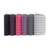 Fashion Modern Check Pattern Short Style Women Wallet (MBNO043089)